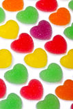 Heart shape colorful jelly coated with sugar Royalty Free Stock Photography