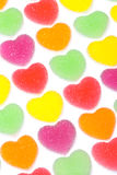 Heart shape colorful jelly coated with sugar Royalty Free Stock Images
