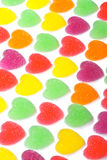 Heart Shape Colorful Jelly Coated With Sugar Stock Photo