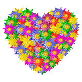Heart shape of colorful lotus flower Royalty Free Stock Photo