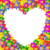 Heart shape of colorful lotus flower Stock Images