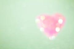 Heart shape on colour background,vintage style Stock Photo