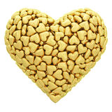 Heart shape composed of many golden Royalty Free Stock Photography