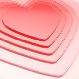 Heart shape composition as festive background. Glossy symbolic heart shape composition as festive background Royalty Free Stock Photography