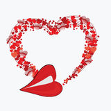 Heart shape concept design Royalty Free Stock Photography