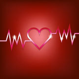Heart shape concept with pulsation Stock Photography