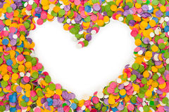 Heart shape confetti Royalty Free Stock Images