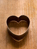 Heart shape cookie cutter Royalty Free Stock Photo