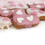 Heart shape cookies Stock Images
