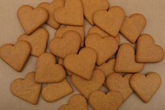 Heart shape cookies. Royalty Free Stock Photography