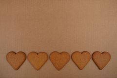 Heart shape cookies. Royalty Free Stock Images