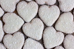 Heart shape cookies with coconut icing Stock Photo