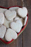 Heart shape cookies with coconut icing Royalty Free Stock Photos