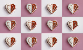 Heart shape cookies collage Royalty Free Stock Image