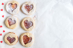 Heart shape cookies Royalty Free Stock Image