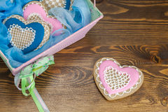 Heart shape  cookies Royalty Free Stock Photography