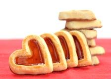 Heart shape cookies Royalty Free Stock Photo