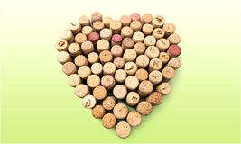 Heart Shape Cork stock photos