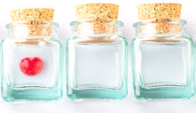 Heart Shape And Corked Bottles I Stock Images