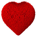 Heart Shape covered with fur Royalty Free Stock Photography