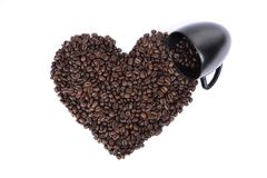 Heart shape and cup Stock Photos