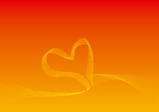 Heart Shape Curve Background Royalty Free Stock Photo