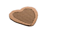 Heart shape. Cut out of a cardboard paper Royalty Free Stock Images