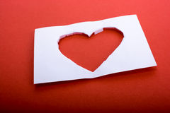 Heart shape. Cut out of paper on a white background Stock Photography