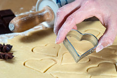 The heart shape cut out V2 Stock Photography