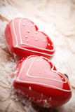 Heart shape decorations Stock Photography