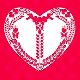 Heart shape of decorative elements vector Stock Image