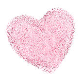 Heart shape with decorative texture Stock Photo