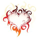 Heart-shape design. Vector illustration of heart-shape created in tribal art style Stock Image