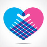 Heart shape design for hand. Stock Royalty Free Stock Photography