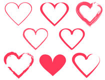 Heart shape design for love symbols. Royalty Free Stock Photo