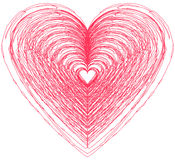 Heart shape design for love symbols. Royalty Free Stock Images
