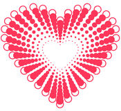 Heart shape design for love symbols. Royalty Free Stock Photography