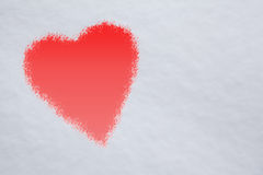 Heart shape design  in snow background Royalty Free Stock Images