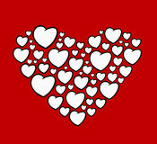 Heart shape design Stock Image