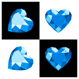 Heart shape diamond icon. Heart shape diamond design in flat color royalty free illustration