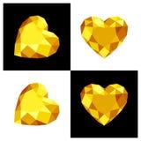 Heart shape diamond icon. Heart shape diamond design in flat color Stock Photography