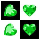 Heart shape diamond icon. Heart shape diamond design in flat color stock illustration