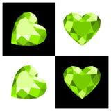 Heart shape diamond icon. Heart shape diamond design in flat color Royalty Free Stock Photo