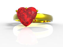 Heart shape diamond ring Royalty Free Stock Photography