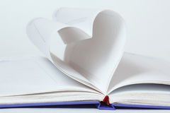Heart shape of diary pages Stock Images
