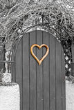 Heart shape door Royalty Free Stock Photos