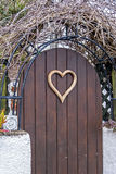 Heart shape door Stock Images