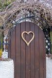 Heart shape door Stock Images