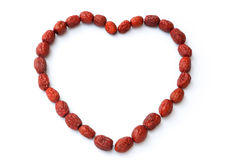 Heart shape dried jujube Stock Photo