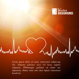Heart shape ECG line. Stock Images